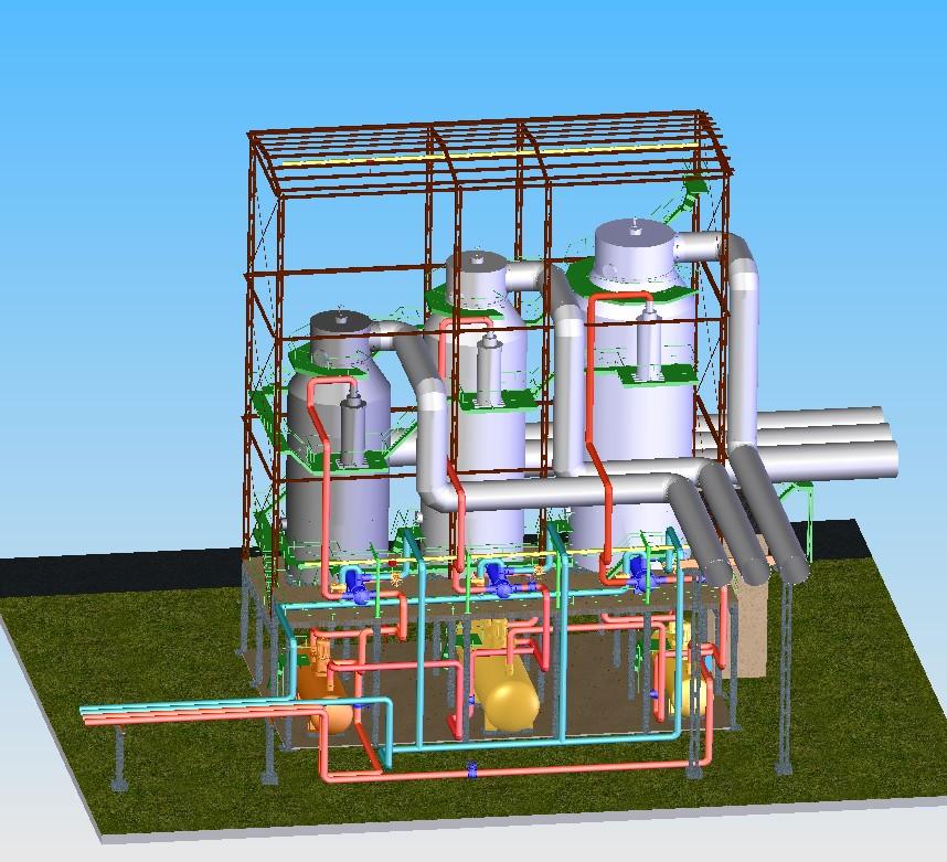 Абсорбционно-сушильное отделение производства серной кислоты